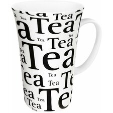 Tea Writing Mega Mug in White (Set of 4)