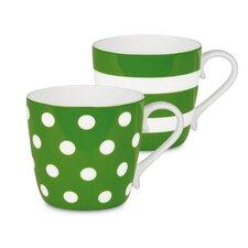 Dots and Stripes Mug 2 Piece Set