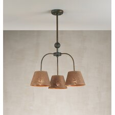 Contemporary Triplex Three Light Chandelier