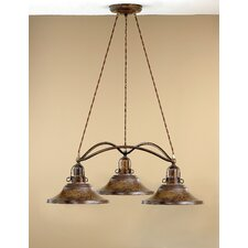 Rustik Charleston Three Light Chandelier