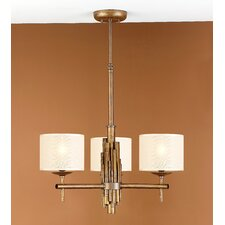 <strong>Lustrarte Lighting</strong> Rustik Bambu Three Light Chandelier