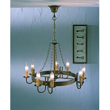 Rustik Medieval Eight Light Chandelier