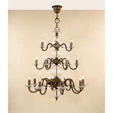 Classic Etrusca Eighteen Light Chandelier