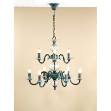 Classic Etrusca Nine Light Chandelier