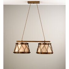 Rustik Tambor Two Light Chandelier