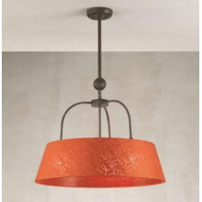 Contemporary Triplex 3 Light Drum Pendant