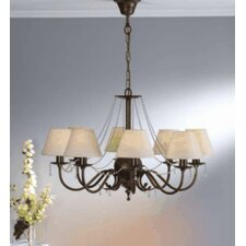 <strong>Lustrarte Lighting</strong> Classic Missangas Eight Light Chandelier