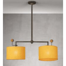 Contemporary Cork Two Light Chandelier