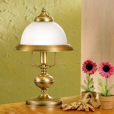 "Rustik Marble 15.75"" H Table Lamp with Bowl Shade"