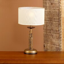 "Rustik Bambu 15.75"" H Table Lamp with Drum Shade"