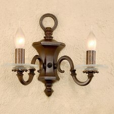 <strong>Lustrarte Lighting</strong> Classic Etrusca 2 Light Wall Sconce