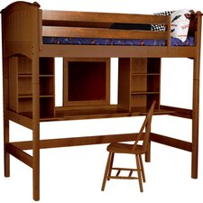 <strong>Bolton Furniture</strong> Cooley Twin Loft Bed with Bookshelves and Desk