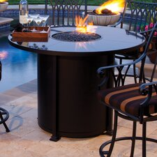 Casual Fireside Santorini Counter Height Fire Pit