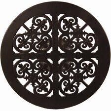 "Casual Fireside 27"" Round Richmond Cast Aluminum Lazy Susan with Stand"