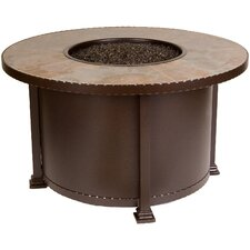 "Casual Fireside Santorini 42"" Round Fire Pit with Calico Tile"