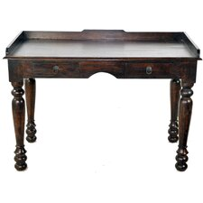 Joy Colonial Study Writing Desk with 2 Drawer