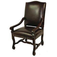 True Leather High Back Arm Chair
