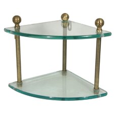 "Universal Two Tier 8"" Bathroom Shelf"