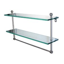 Universal 22 x 5 Glass Shelf with Towel Bar