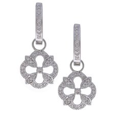 Sterling Silver .25 TDW Diamonds Sofia Hoop Earrings