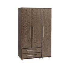 New York 3 Door Wardrobe with 2 drawers