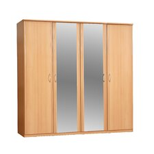 Ruby 4 Door Wardrobe with Mirrors