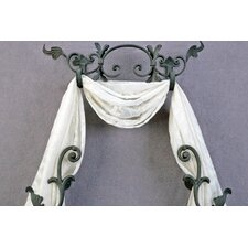 "Casa Artistica Banded Scroll 23.5"" Curtain Valance"