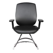 One Series Leather Guest Office Chair with T-Armrests