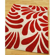 Lily Red Tufted Rug