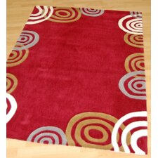 Sphere Red Tufted Rug
