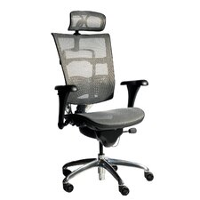 Mesh Arm Chair with Adjustable Arm Pads