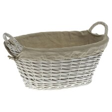Tobs Willow Laundry Basket in White