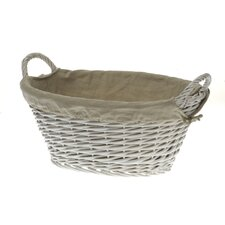 Tobs Willow Storage Laundry Basket in White