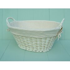 Laundry Storage Basket with Cream Lining