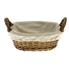 <strong>Wicker Valley</strong> Bread Basket with Calico Lining
