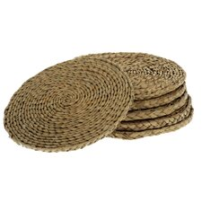 <strong>Wicker Valley</strong> Round  Rush Table Mat (Set of 6)
