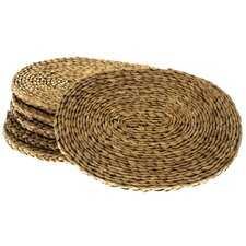 <strong>Wicker Valley</strong> Oval Rush Table Mat (Set of 6)