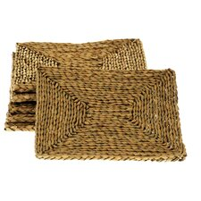<strong>Wicker Valley</strong> Rectangular Rush Table Mat (Set of 6)
