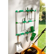 Wall-Mounted Garden Tool Rack