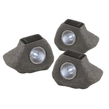 <strong>Home Essence</strong> Solar 1 Light Outdoor Garden Light (Set of 3)