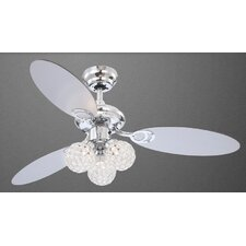 Azalea 3 Light Ceiling Fan in Chrome