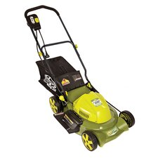 "Mow Joe 20"" 3-in-1 Electric Lawn Mower with Side Discharge, Rear Bag and Mulch"