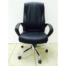 High-Back Pleated Swivel Office Chair