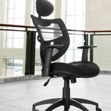 Mesh Back Contemporary Executive Chair with Headrest