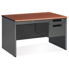 Mesa Series Single Pedestal Computer Desk with Center Drawer