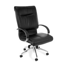 <strong>OFM</strong> High-Back Leather Sharp Executive Chair with Arms