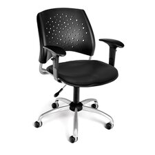 <strong>OFM</strong> Stars and Moon Mid-Back Confrence Chair with Arms