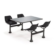 <strong>OFM</strong> Group/Cluster Table and Chairs Picnic Table with Stainless Steel Top