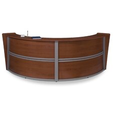 Reception Furniture Double Unit Curved Station