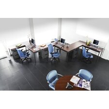 Conference Table with Utility Table Suite